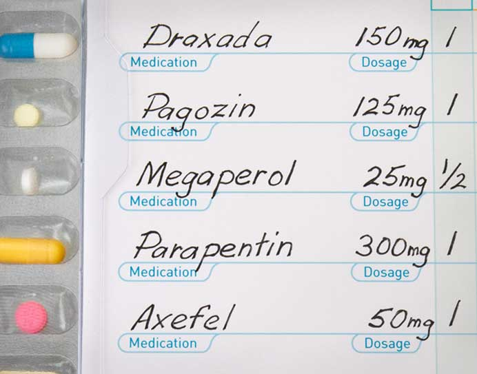 Each pill's information is customized